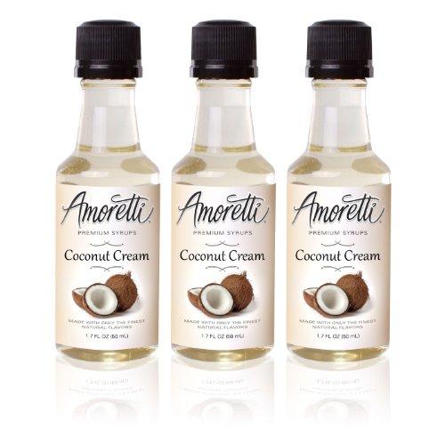 Amoretti Perquisite Coconut Cream Syrups 50ml 3 Pack