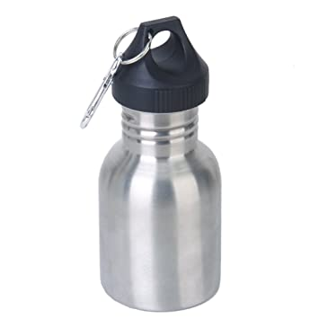 350 ML Botella De Deporte De Acero Inoxidable - De Color Plata