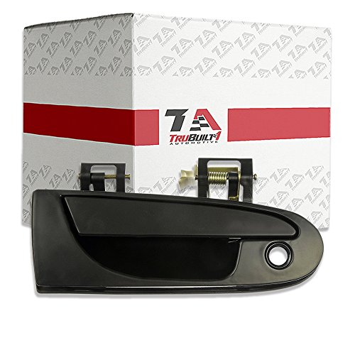 T1A Front Right Passenger Side Exterior Door Handle Replacement for 1995-1999 Mitsubishi Eclipse Also Fits 1995-2000 Chrysler Sebring and Dodge Avenger, 1995-1998 Eagle Talon, Black, T1A MB913152