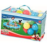Bestway Mickey Mouse Club House Ball Pit Toy For Kids with Soft Balls