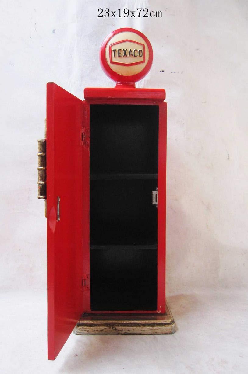 Retro Vintage Armoire//armoire murale texaco Pompe–Rouge CristalRay PREMIUM