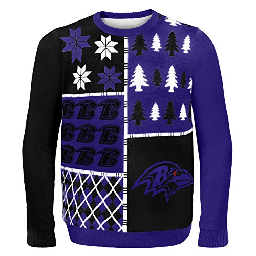 Baltimore Ravens Busy Block Ugly Sweater Extra Large