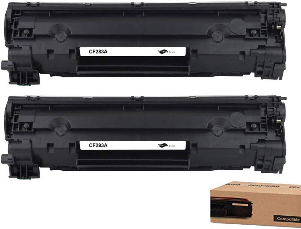2 Pack Black 83A CF283A Compatible Toner Cartridge Replacement for HP Laserjet Pro M201n M201dw MFP M225dn MFP M126nw MFP M125r MFP M127fn MFP M128fw Printers Toner Cartridge.