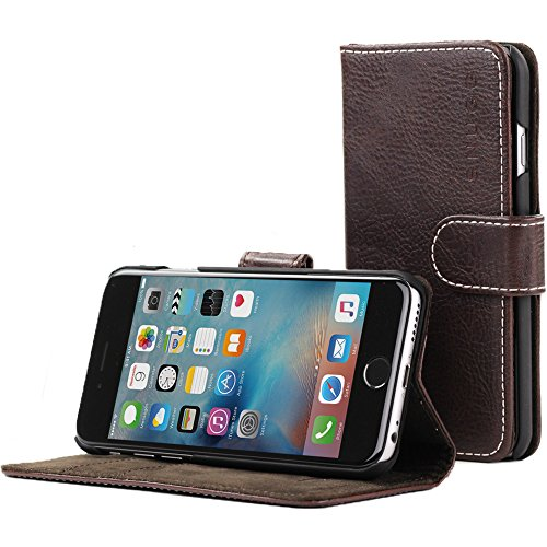 iPhone Snugg Dark Roast Leather Executive