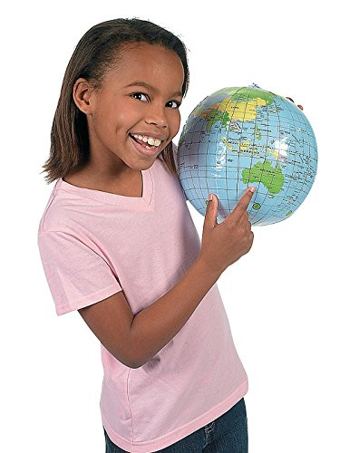 One Inflatable World Globe Beach Ball Pool Toy Party Favor