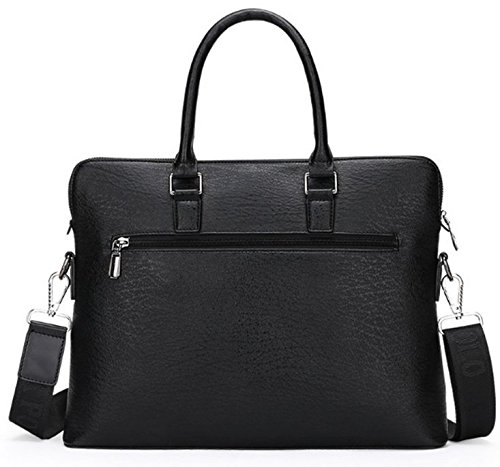 Price comparison product image eBuymore PU Leather Men's Bussiness Messenger Shoulder Bag Briefcase for Fujitsu Stylistic 12.5 / Fujitsu Lifebook 13.3-inch / HP EliteBook Folio 12.5-inch (Black)