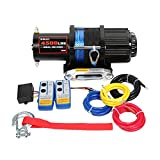 X-BULL 12V 4500LBS Synthetic Rope Electric Winch for Towing ATV/UTV/Boat Off Road