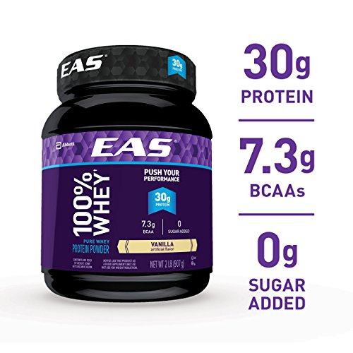 EAS 100 Pure Whey Protein Powder, Vanilla, 2 lb Packaging May Vary