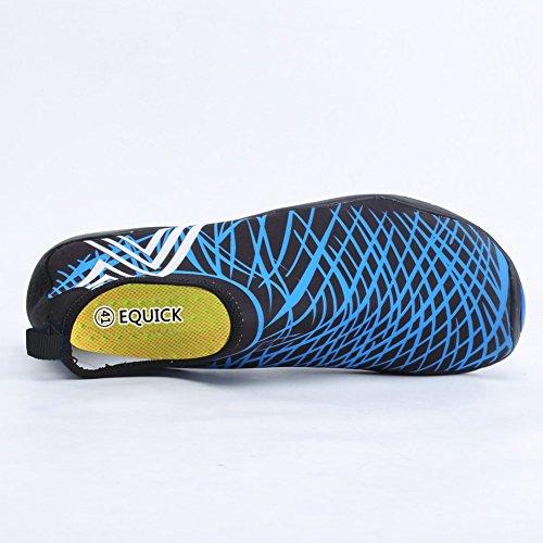 EQUICK Wasserschuhe Aqua Sport Turnschuhe Slip On Schnell Trocknend Für Männer Frauen Kinder Angeln 1b.blau
