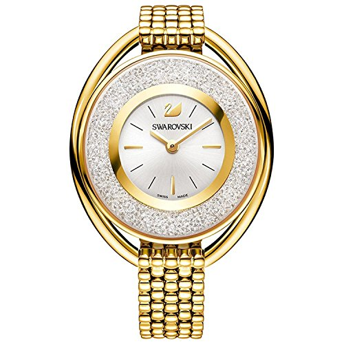 (Swarovski Crystalline Oval Gold Tone Bracelet Watch 5200339)