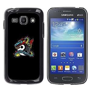 Stuss Case / Funda Carcasa protectora - Dragon Tattoo Graffiti Black Yin Yang - Samsung Galaxy Ace 3 GT-S7270 GT-S7275 GT-S7272