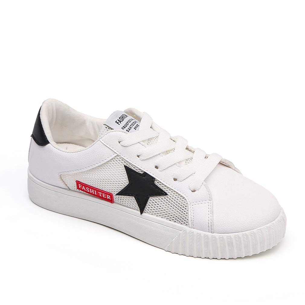 Womens Sneakers Platform Womens Sneakers Womens Skateboard Shoes White Size 8 by NOT100