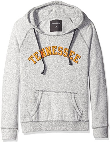 (NCAA Tennessee Volunteers Women's Reverse Sleeve and Pocket Hoodie, Large, Pepper/Charcoal)