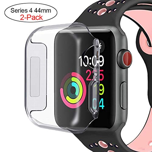 Acode Series 4 44mm Case Compatible with Apple Watch Screen Protector, Overall Protective Case High Definition Clear Ultra-Thin Cover Compatible with iWatch Case Series 4 (2 Pack)