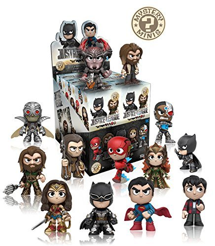 Funko DC Justice League Movie Mystery Minis Display Case of 12 Blind Box - Boxes Justice League