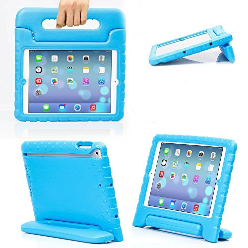 eTopxizu Shockproof Handle Stand Protective Kids Case for iPad 4, iPad 3 and iPad 2 - Blue