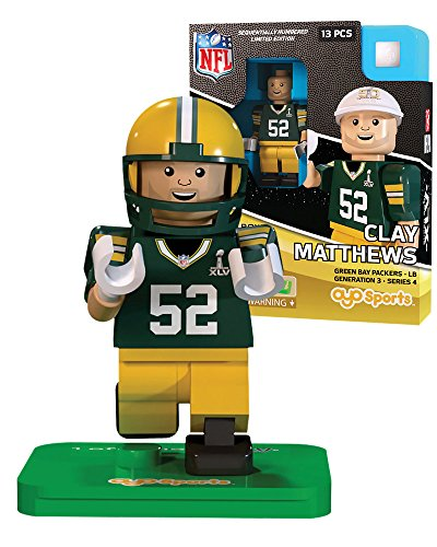 Clay Matthews NFL OYO Green Bay Packers S.B. XLV L.E. of 2,015 Generation 3 Super Bowl 50 Series G3 Mini Figure