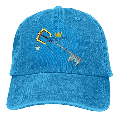 Monicame Unisex Hats Kingdom Hearts Heart And Sword Casual Style Casquette Blue