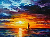 Touch of Horizon is a Limited Edition print from the Edition of 400. The artwork is a hand-embellished, signed and numbered Giclee on Unstretched Canvas by Leonid Afremov. Embellishment on each of these pieces will be slightly different, but the imag...