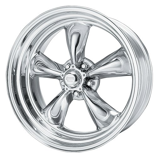 American Racing Hot Rod Torq Thrust II VN505 Polished Wheel (17x7