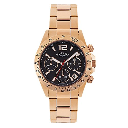 Rotary GB00279/04 - Reloj Deportivo para Hombre (cronógrafo, Chapado en Oro Rosa