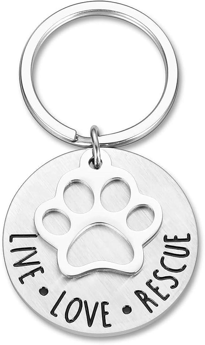 Cat Lover Keychain Animal Paw Cat Dog Keychain mini Unique Keyring Dog Lover Keychain