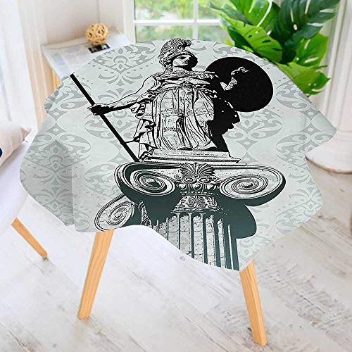 aolankaili 100% Polyester Printed Table Cloth- Statue of Athena on Baroque Background Greek Mythology Hellenistic Ideal for Home, Restaurants, Cafés 67