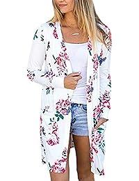 Womens Boho Irregular Long Sleeve Wrap Kimono Cardigans...