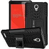 Tarkan Hard Armor Rubber Flip Stand Rugged Back Case Cover For Xiaomi Redmi Note 3G /4G / Redmi Note Prime (Black)