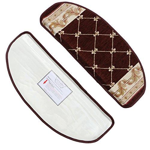 Keyama - Tapete de acrílico para escaleras, peldaños antiderrapantes, tapetes decorativos para escalones (juego de 15)