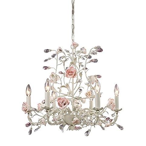 Elk lighting 8092 6 heritage 6 light floral chandelier lighting elk lighting 8092 6 heritage 6 light floral chandelier lighting fixture cream porcelain mozeypictures Images