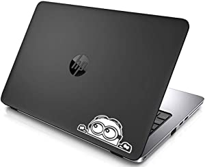 SHANCrafts Minion Peeking Macbook Decal Vinyl Sticker Apple Mac Air Pro Retina Laptop sticker