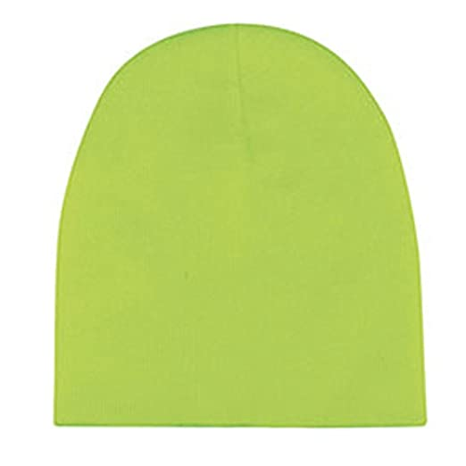 Knit Beanie Neon Green at Amazon Women s Clothing store  d3d0690fabd