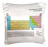 3dRose pc_76645_1 Pastel Periodic Table-Academic School Educational Gift for Science Chemistry Physics classrooms-Pillow Case, 16 by 16''