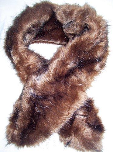Merona, Women's Faux Fur Infinity Scarf, Brown