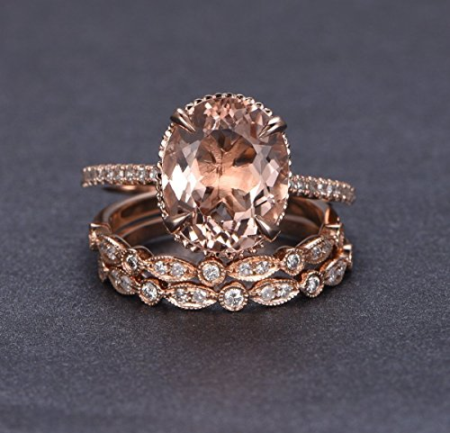Which is the best morganite oval bridal set?