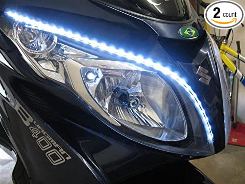 Amazon.com : LED DRL Head Light Strips Daytime Running Lamps Kit for Suzuki Burgman all years : Sports & Outdoors
