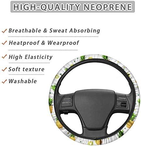 Anti-Slip Car Wheel Protector for Women Teen Girls UZZUHI Cartoon Lovely Panda Face Steering Wheel Cover Breathable