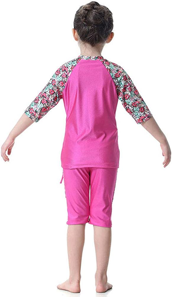 pc Half Sleeve Burkini Swimsuit M/&A Girls Muslim 3