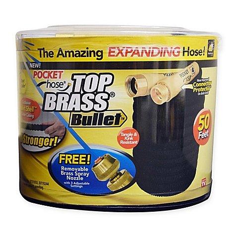 Top Brass Bullet 50-Foot Expanding Hose