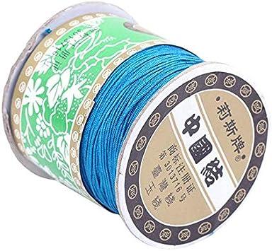 JK Home Rouleaux Fil Nylon pour Artisanat Fabrication de Bijoux DIY Bracelet Collier Beige