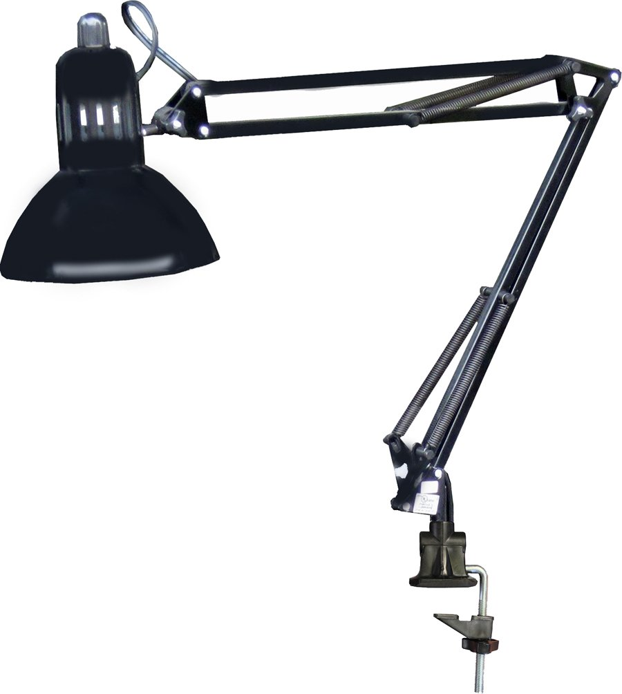325 FF Manicure Nail Table Swing ARM LAMP Black w/Clamp by Dina Meri