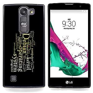 For LG Volt 2 / LG G4 Mini (G4c) - Deep Message /Modelo de la piel protectora de la cubierta del caso/ - Super Marley Shop -