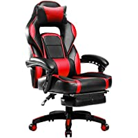 BOSSIN Racing Style PU Leather Gaming Chair (Red)