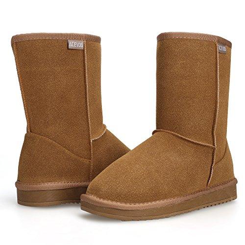 Zapatos Botas de de Invierno imitaci ACEVOG Planas Nieve fqZTg