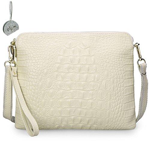 Beige For Leather Crossbody Crocodile Embossed MICOM Women Trendy Bag Shoulder PU q8wfIv