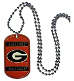 Simran NCAA Georgia Bulldogs 36-Inch Ball Chain Necklace with Licensed Tag
