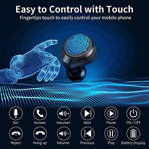 Ecouteurs Bluetooth sans Fil Sport, GRDE Oreillette sans Fil 105 Heures Lecture avec Hi-FI Stéréo Mic, Earphones Bluetooth Etanche USB-C Etui de Charge Couplage Automatique pour Android iPhone