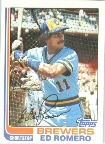 1982 Topps #408 Ed Romero - Milwaukee Brewers (Baseball Cards) - 1982 Brewers