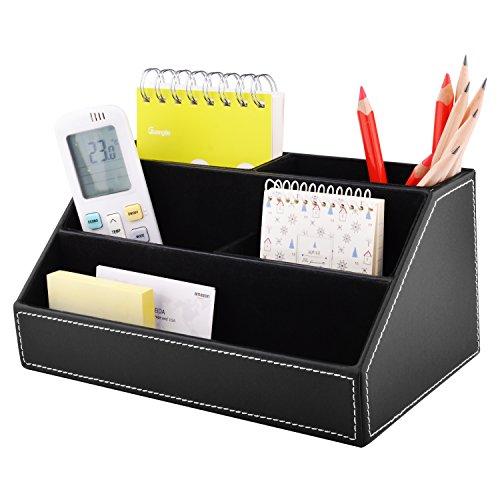 Home Office Supplies.  55% MaxGear PU Leather Desk Organizer, Remote  Control Organizer Desk Holder For Office.
